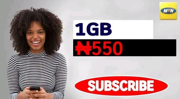 SME DATA: MTN 1GB at N550